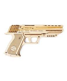 UGears 70047 UGears Wolf-01 Handgun Rubber Band Firing Wooden 3D Model