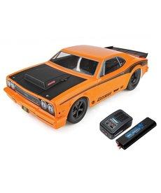 Team Associated Team Associated DR10 RTR Combo de coche de carreras de arrastre sin escobillas (naranja)