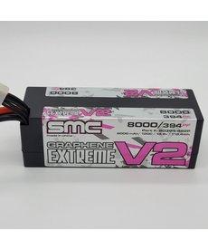 SMC 80394-4S2P True Spec Extreme Graphene V2 4s 14.8V 8000mAh 120C Lipo Battery Hardcase