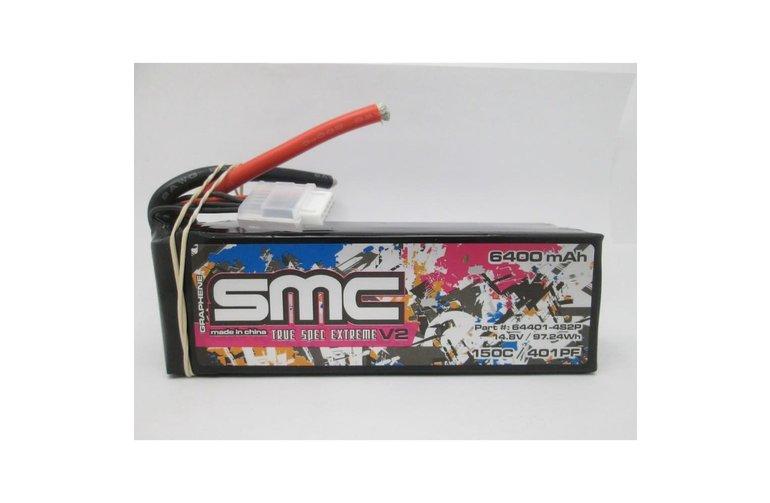SMC 64401-4S2P True Spec Extreme Graphene V2 4s 14.8V-6400mAh-150C Lipo Battery Softcase
