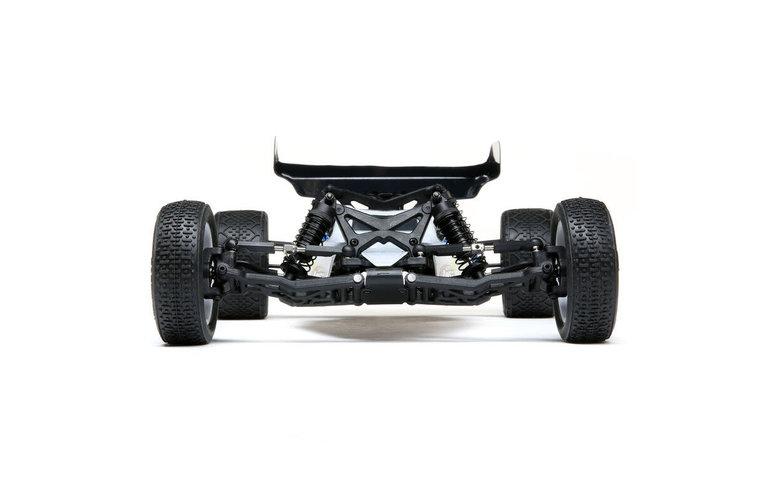 LOS LOS01016T2 Mini-B, Brushed, RTR: 1/16 2WD Buggy, Black/White