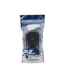 """Proline Racing Pro-Line Badlands MX28 Neumáticos para camiones premontados con cinturón de 2.8 """"(2) (Negro) (M2) con ruedas hexagonales extraíbles Raid 6x30"""