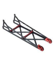 DragRace Concepts DRC-355-0003  DragRace Concepts Slider Wheelie Bar w/O-Ring Wheels (Grey)