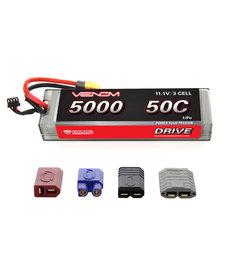 Venom Racing VNR15129 DRIVE 50C 3S 5000mAh 11.1V LiPo Hardcase Battery with UNI