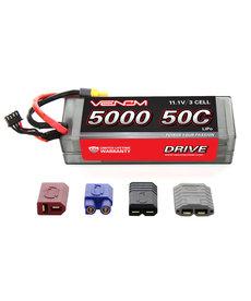 Venom Racing VNR15113 DRIVE 50C 3S 5000mAh 11.1V LiPo Hardcase Battery with UNI