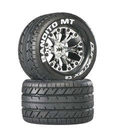"Duratrax DTXC3505 Tires Bandito MT 2.8"" Mounted 1/2"" Offset Chrome (2)"