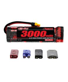 Venom Racing VNR1525-7 DRIVE 8.4V 3000mAh Batería plana NiMH con enchufe UNI 2.0