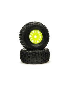 ARA ARA550068 dBoots 'Fortress' Tyre Set Glued Green (Pair)