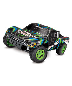 Traxxas 68054-1-GRN  RTR Green Slash 4X4 1/10 Scale 4WD Electric Short Course Truck w Transmitter 2.4ghz, 3000mah Battery