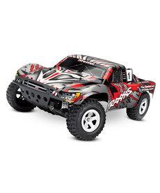 Traxxas 58024-REDX Slash: Camión de carrera corto 2WD de escala 1/10. Ready-To-Race® con sistema de radio TQ 2.4GHz y XL-5 ESC (adelante / atrás).