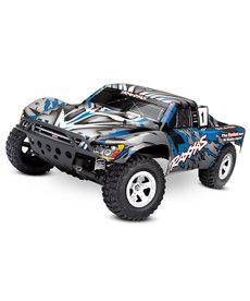 Traxxas 58024-BLUEX Slash: Camión de carreras de recorrido corto 2WD de escala 1/10 con sistema de radio TQ de 2.4GHz