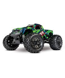 Traxxas 90076-4-GRN Hoss™ 4X4 VXL: Monster Truck a escala 1/10 con sistema de radio de 2,4 GHz habilitado TQi Traxxas Link ™ y gestión de estabilidad Traxxas (TSM) ®