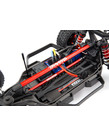 Traxxas 6730R Chassis brace kit, red (fits Rustler® 4X4 or6730R Slash 4X4 models equipped with Low-CG chassis)