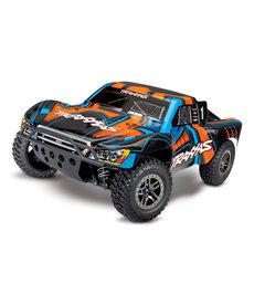 Traxxas 68077-4-ORNG Slash 4X4 Ultimate: Camión eléctrico de recorrido corto 4WD a escala 1/10 con sistema de radio TQi, módulo inalámbrico Traxxas Link y gestión de estabilidad Traxxas (TSM)