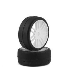 GRP GT - TO2 Slick Belted Pre-Mounted 1/8 Buggy Tires (White) (2) (S3) w/17mm Hex