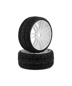 GRP GT - TO1 Revo Belted Pre-Mounted 1/8 Buggy Tires (White) (2) (S1) w/17mm Hex