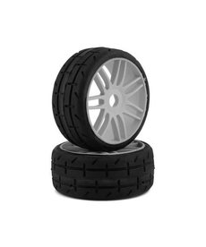 GRP GT - TO1 Revo Belted Pre-Mounted 1/8 Buggy Tires (Silver) (2) (S2) w/17mm Hex