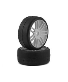 GRP GT - TO2 Slick Belted Pre-Mounted 1/8 Buggy Tires (Silver) (2) (S3) w/17mm Hex