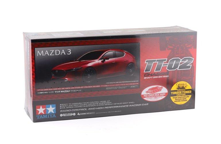TAM TAM58671 1/10 Mazda3 (TT-0 Tamiya Mazda3 TT-02 1/10 4WD Electric Touring Car Kit