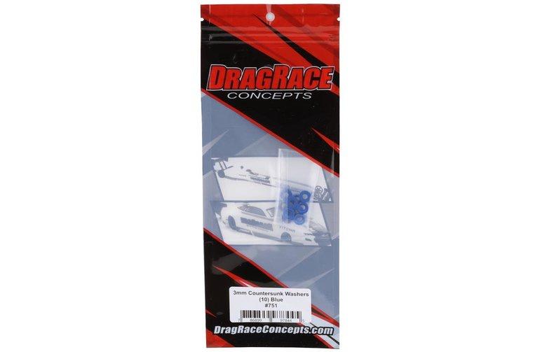 DragRace Concepts DragRace Concepts 3mm Countersunk Washers (Blue) (10)