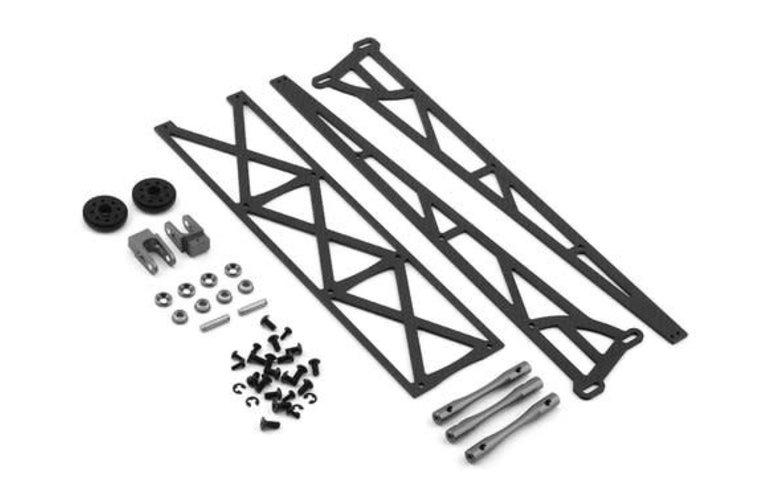 "DragRace Concepts DragRace Concepts 10"" Slider Wheelie Bar w/Plastic Wheels (Grey) (Mid Motor)"