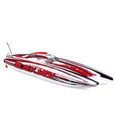 """Proboat Blackjack 42"""" 8S Brushless Catamaran RTR: White/Red"""
