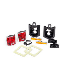 Traxxas 8135 Tail lights, left & right (assembled)/ tail light retainers, left & right/ side marker lights (assembled) (2)/ side marker retainers (2)/ mounting tape (2)/ 1.6x5 BCS (self-tapping) (4)/ 2.6x8 BCS (2) (fits #8130 body)