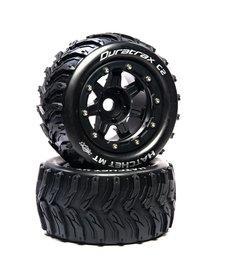 "Duratrax DTXC5606 Hatchet MT Neumáticos delanteros / traseros montados con cinturón de 2.8 "".5 Offset 17 mm, Negro (2) Se adapta a Traxxas MAXX"