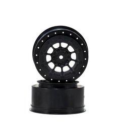 JCO 3352B JConcepts Ruedas de rumbo corto hexagonal de peligro de 12 mm (negro) (2) (TEN-SCTE)