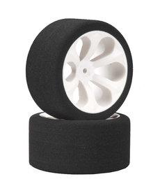 JAC Neumáticos de perfil bajo con prisma de 12 mm traseros de espuma RC JAC2050LP, color rosa (2): Rustler, Stampede VXL
