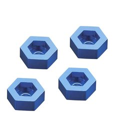 DID Aluminum Wheel Adapter To 12mm Hex Blue (4)
