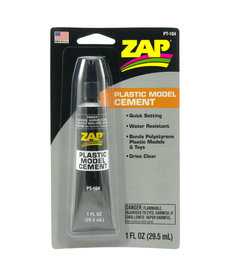PAA Zap Plastic Model Cement, 1oz, Carded