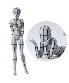Bandai Female Body Chan Wireframe Gray Color Ver. S.H.Figuarts Action Figure