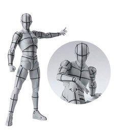 Bandai Male Body Kun Wireframe Gray Color Ver. S.H.Figuarts Action Figure