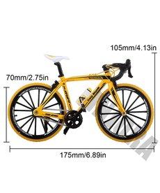 INJORA Amarillo INJORA Metal Sport Bicicleta de montaña para 1/10 RC Crawler Axial Traxxas