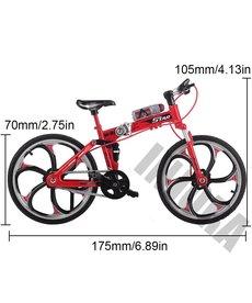 INJORA Bicicleta plegable de montaña de Metal rojo para 1/10 RC Crawler Axial SCX10 TRX4 RC Decoración de coche