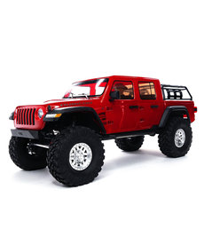 Axial 1/10 SCX10 III Jeep JT Gladiator Rock Crawler con portales RTR, rojo