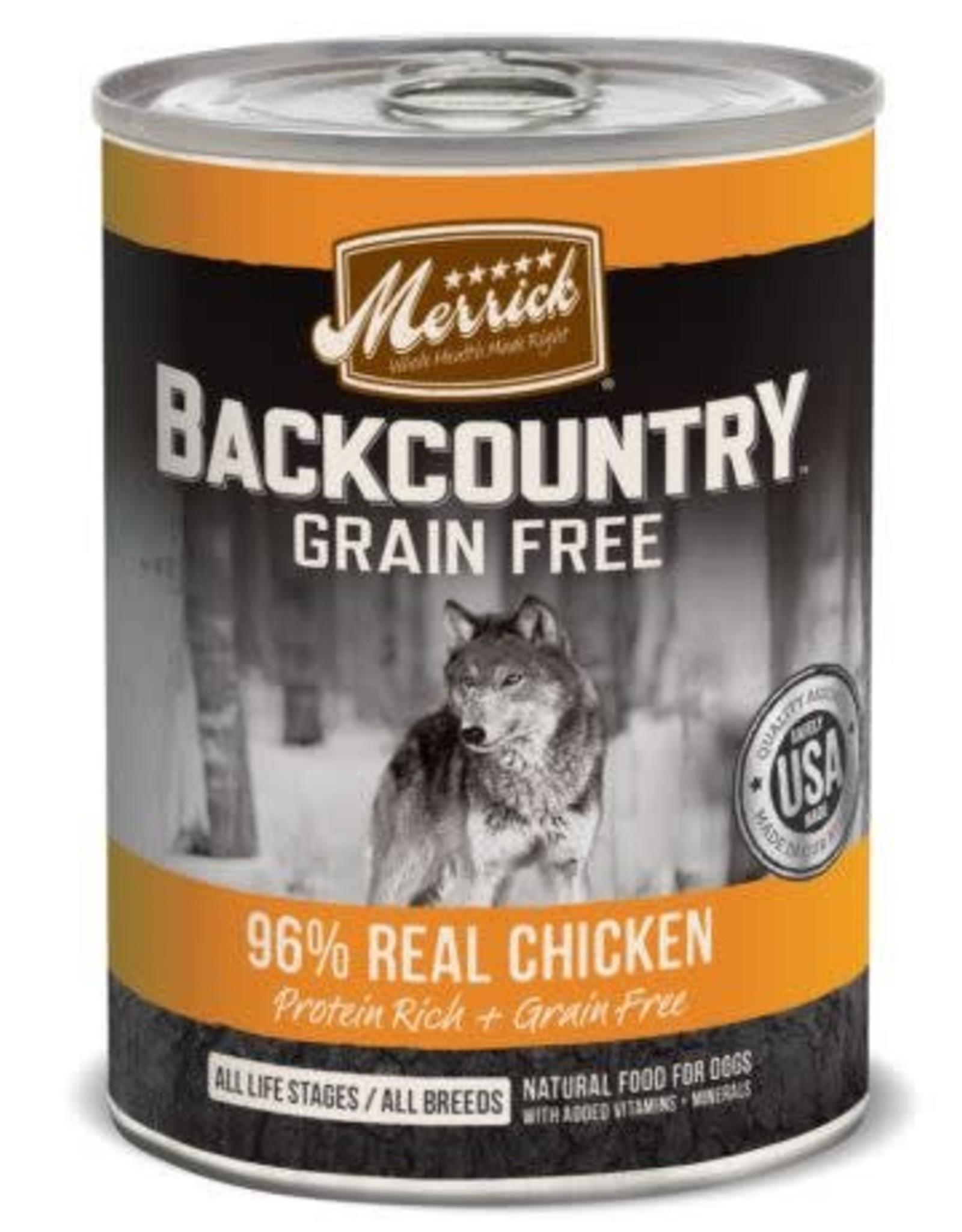 Merrick Merrick Backcountry Grain-Free 96% Real Chicken Dog 12.7 oz