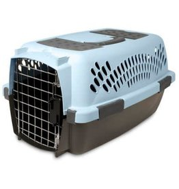 """Petmate Petmate Portable Kennel For Dogs SMALL (19"""" X 13"""" X 10"""") Blue/Black  up to 10 lb."""