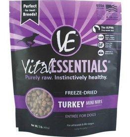 Vital Essentials Vital Essentials Turkey Entree Mini Nibs Grain-Free Freeze-Dried Dog Food 1 lb
