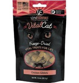 Vital Essentials Vital Essentials Chicken Giblets Freeze-Dried Cat Treats- 1 oz. bag