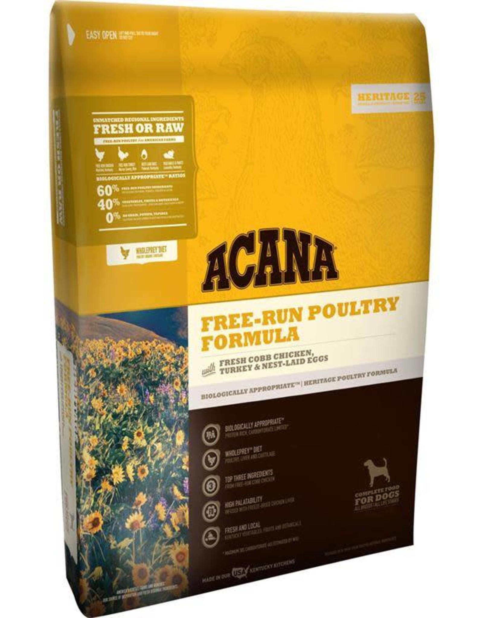 Acana Acana Heritage Grain-Free, Free-Run Poultry/ Fresh Cobb Chicken, Turkey & Nest-Laid Eggs Dry Dog Food