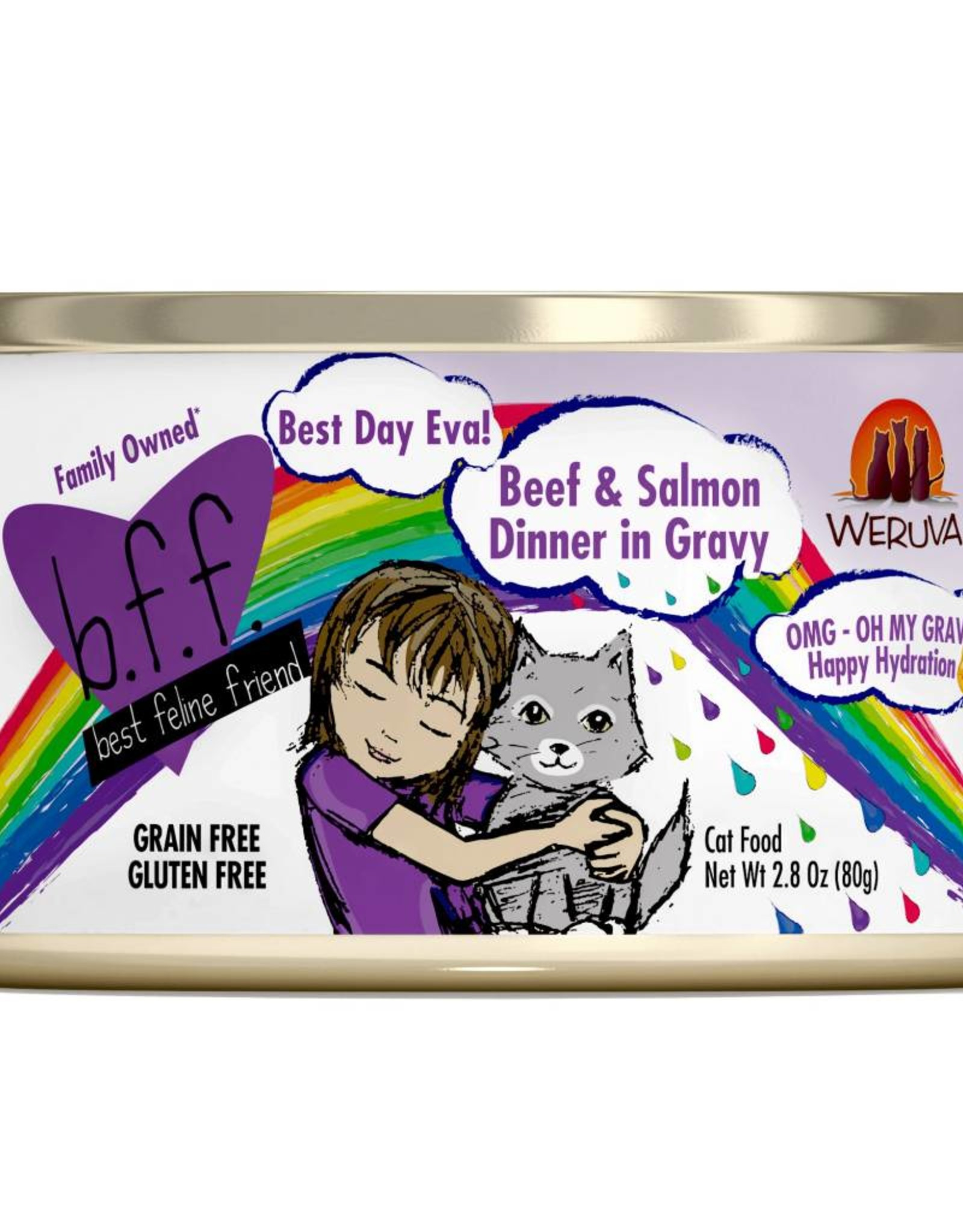 Weruva Weruva BFF OMG Best Day Ever Beef & Salmon Dinner Canned Cat Food 2.8 oz