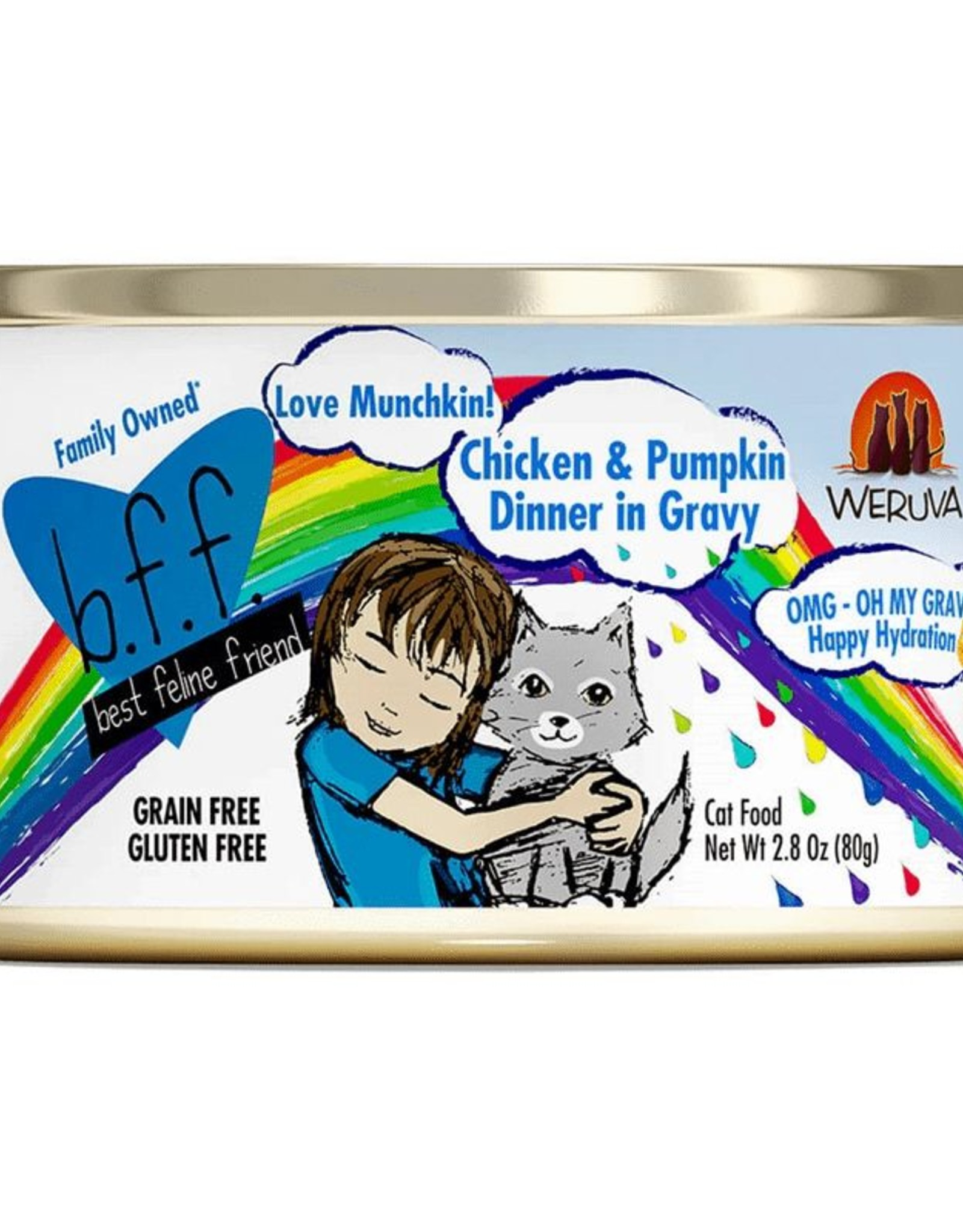 Weruva Weruva BFF OMG Love Munchkin Chicken & Pumpkin Dinner Canned Cat Food- 2.8 OZ,
