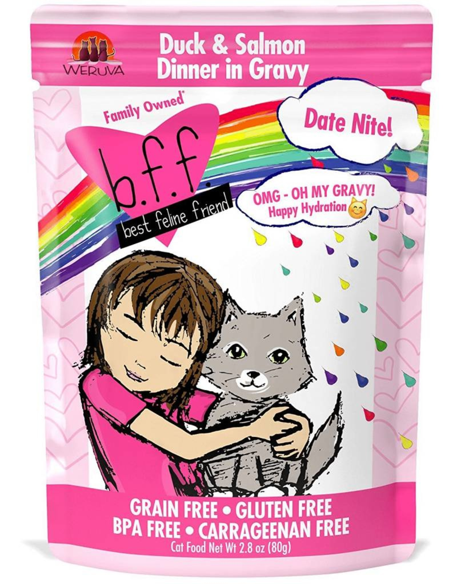 Weruva Weruva BFF OMG DATE NITE! DUCK AND SALMON CAT FOOD POUCH- 2.8 OZ.