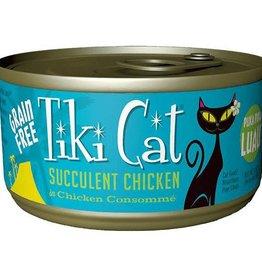 Tiki Pets Tiki Puka Luau Succulent Chicken Canned Cat Food  12/2.8 oz
