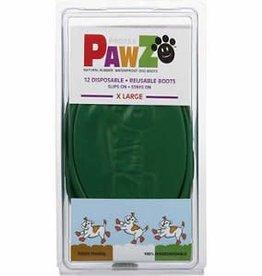 Pawz Boots Pawz Waterproof Dog Boots, Green, X-Large