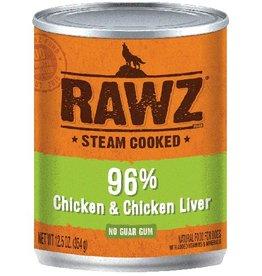 Rawz RAWZ Dog 96% Chicken & Chicken Liver Canned Dog Food 12.5 oz.