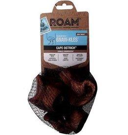 ROAM ROAM Pet Treats Gnaw-Kles Cape Ostrich Bone for Dogs, Bag of 3 Knuckles