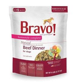 Bravo Pet Food Bravo! Homestyle Complete Beef Dinner Grain-Free Freeze-Dried Dog Food- 6 LB.